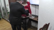 Boss foot fetish Office secretary. boss fucks secretary and cumshot. hidden camera office