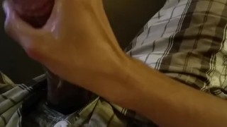 Stroking my meat