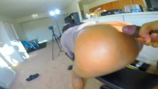 DESTROYING My Cousin's Pussy And Finishing On Her Ass - Jade
