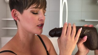 BIG BLACK COCK FANTASY BLOW JOB WITH CIM XXX