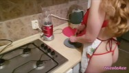 Peoms about a sexy man Sexy blonde cooking and waiting for her horny man from work