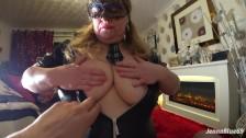 Sensual Big Tits Blowjob and Swallowing Cum in a Tartan Schoolgirl Outfit