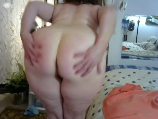 V65 Stunning redhead MILF DawnSkye strips, teases and cums with you, HOT !