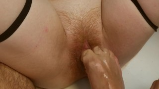 Pussy FootJob for Ginger | My First Orgasm from my man's feet