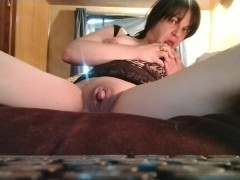 Doing dirty things with my huge big clit