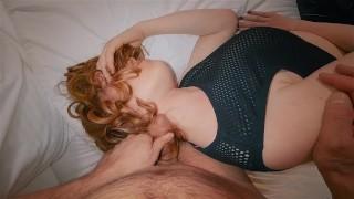 Ginger HairJob Cumshot | Stroking Cock on My Silky Red Hair Till Cum