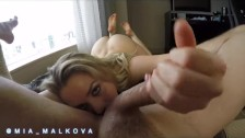 Mia Malkova bouncing her perfect ass on a big dick before getting creampie