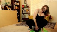 Fluffy bbw Yoga pants facesitting with fluffy
