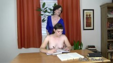The Mortification of Belle - young intern stripped & fondled by milf boss