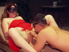 Young Ginger Princess Reading Poems Gets Hairy Pussy Licked and Fucked