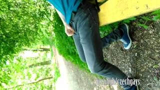 teen boy - horny - outside - piss - wank :-)