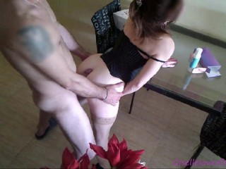 Hot married has sex on the table – giselle Fucking with good cock and toys-