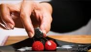 Cum in wifes food Cfnm handjob cum on candy berries cum on food 3