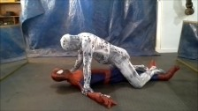 scary horny zentai spider vs spiderman
