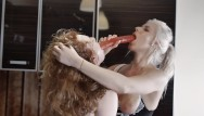 Heat an amateur cook in a professional kitchen - First time ginger and kate truu cooking together turns in hot kitchen orgy
