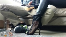 HandJoy * Goddess Hira gives an amazing Footjob to a shoe salesman