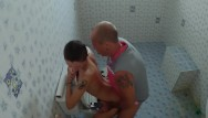 Inside the mouth blowjob Cum inside me sex in public toilet and creampie