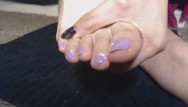 Purple ford escort Painting my toe nails pastel purple