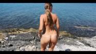 Beach ass Best beach public blowjob and cumshoot