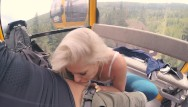 Naked ski bunny 4k public bj and anal creampie in ski lift and lot of fuck in mountain hike