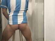 soccer player fucks a toy