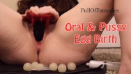 Free adult oral porn - Playing with my ovipositor, squick oral pussy egg birth