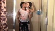 Lesbian play shower Girl girl shower play