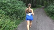 Gennifer flower naked Great blowjob in the forest