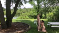 Nudist couples thumbs Nudist couple exposed - missy gives george a blowjob outdoors