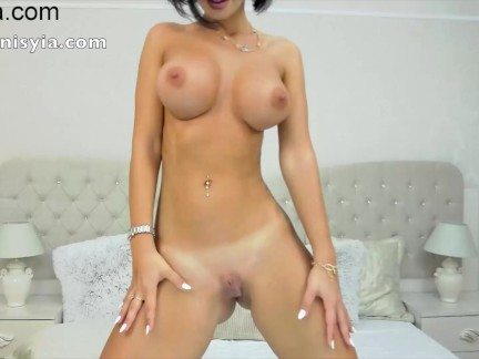 Anisyia Livejasmin dancing, close up buttplug zoom and oil recorded private