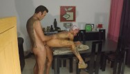 Jana dripping cum Dripping creampie on the table