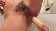 Anal fucking with bats Fucking my ass with the bat