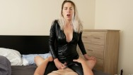 Girl choked hard while being fucked 3 huge riding orgasms being choked from catsuit goddess