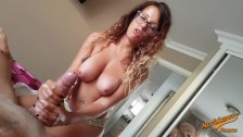 Oil Massage with big tits fuck and prostate massage