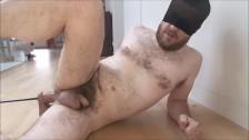 Fuck machine - dildo (almost) too big for straight guy