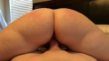 Shy Thick Mom Next Door gets Spanked and Creampie