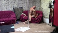 Dancing and fucking Hot couple pole dance and fuck session