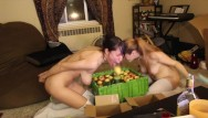 Asian apple seed anal - Awesomekate and delightfulhug - halloween bobbing for apples