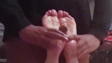 FOOTFUCKING BURGLAR - Preview 2: Tickling Oily Footjob