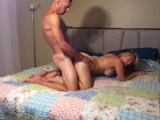 Fucking that tight ass and pussy she loves it!