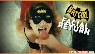 Tits and chaps Facial superhero chap. 1 - batgirl or catwoman cum on her face