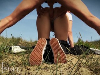 Horny girlfriend loves to fuck outside – First outdoor video – LenaLouix