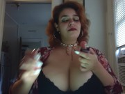 smoking fetish, hot, big tits/ breast play