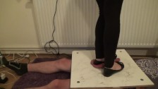Stomping and jumping on cock and balls in balerinas 2 - Cruel CBT Trample