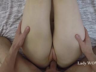 FULL POV Teen gets Creampie – amateur couple Lady WOW