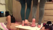 You tube licking feet two teens - Cbt trample with two cruel ladies - part1