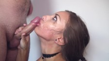 Sloppy deepthroat blowjobs