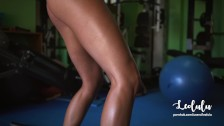 Fit and Tanned Girlfriend Fucked Hard in the Gym - Amateur Couple LeoLulu