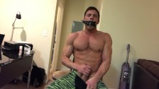 Brandon Cody Self Bondage Jack Off and CUM