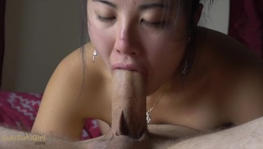 Asian Girl DRIPPING CREAMIE @sukisukigirl cant hold the cum in!! 69